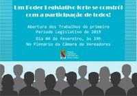 Abertura do primeiro período Legislativo de 2019