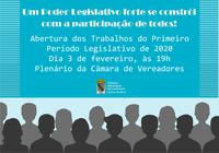 Câmara dá início ao primeiro período legislativo de 2020