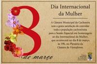 Câmara realiza Sessão em homenagem ao Dia da Mulher