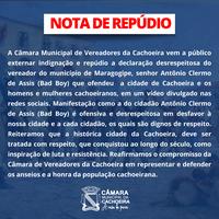 NOTA DE REPÚDIO