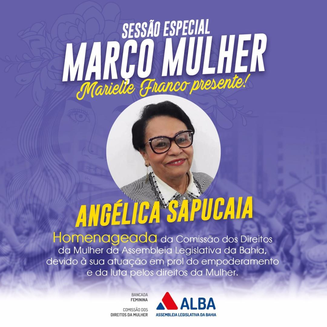 Vereadora Angélica será homenageada pela Assembleia Legislativa da Bahia