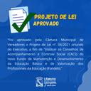 Vereadores aprovam Projeto de Lei para reestruturação do CACS