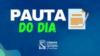 PAUTA DA SESSÃO ORDINÁRIA 13 DE SETEMBRO DE 2021
